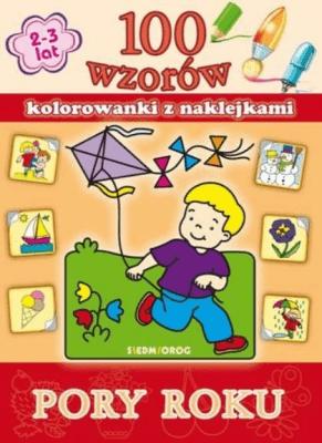 100 wzorów - kolorowanki z naklejkami. Pory roku - praca zbiorowa - Książki Książki dla dzieci