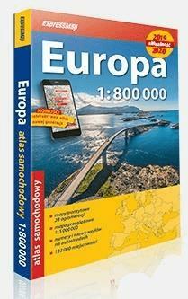 Atlas samochodowy 1:800 000 Europa 2019/2020 - praca zbiorowa - Książki Mapy, przewodniki, książki podróżnicze