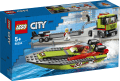 LEGO® City. Great Vehicles. Transporter łodzi wyścigowej. 60254.