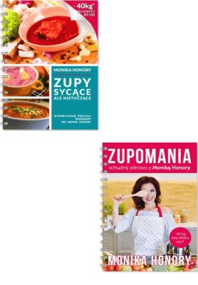 Zupy sycące ale nietuczące + Zupomania  - Honory Monika - Książki Poradniki i albumy
